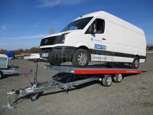 Plato pro převoz velkých vozidel JMB 3,5T 5,15x2,09 ALU č.54