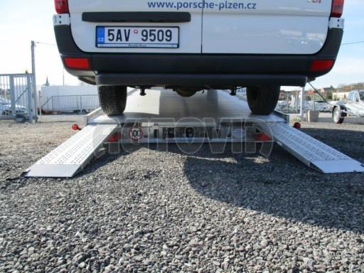 Plato pro převoz velkých vozidel JMB 3,5T 5,15x2,09 ALU č.58