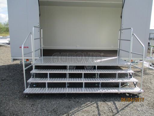 Prodejní stánek stříbrný VA 2,7T 5,09x2,38/2,30 č.11