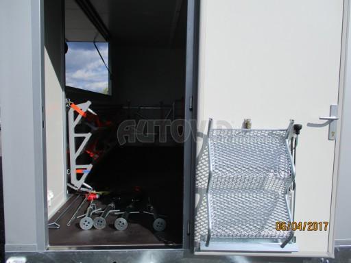 Prodejní stánek stříbrný VA 2,7T 5,09x2,38/2,30 č.22