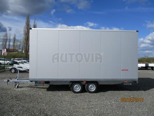 Prodejní stánek stříbrný VA 2,7T 5,09x2,38/2,30 č.28
