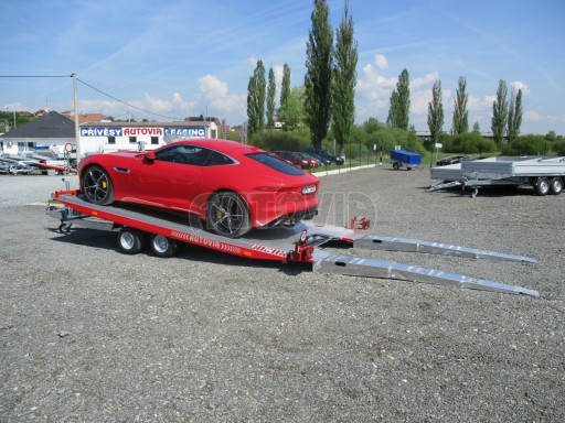 Přepravník sportovních automobilů s celohliníkovou ložnou plochou IM 2,7T 5,01x2,09 č.16