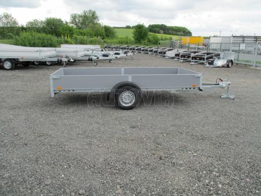 Robustní předimenzovaný přívěsný vozík PV 750kg N1 3,53x1,53/0,30 zesílená náprava č.7