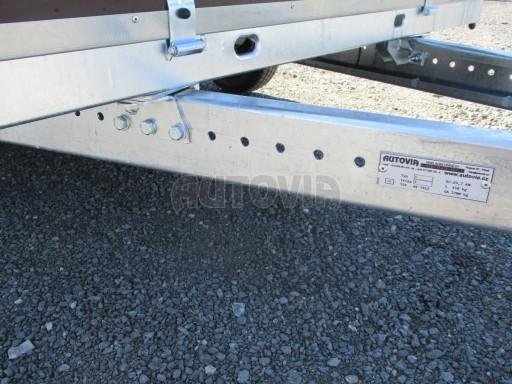 Nebrzděný dvouosý přívěs VA 750kg 3,01x1,50/0,30 RE POČ č.9