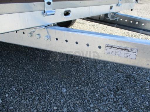 Nebrzděný dvouosý přívěs VA 750kg 3,01x1,50/0,30 RE POČ č.10