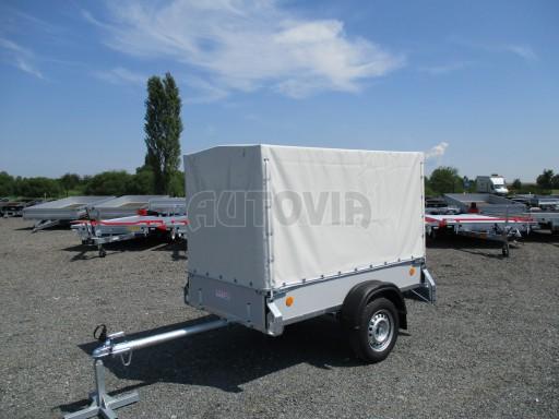 Nebrzděný přívěsný vozík s plachtou ZV 21 N1 2,06x1,09/1,33** č.1