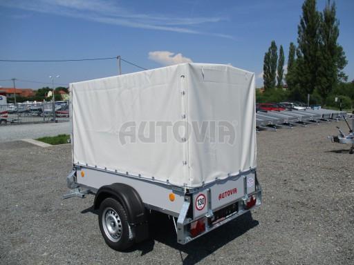 Nebrzděný přívěsný vozík s plachtou ZV 21 N1 2,06x1,09/1,33** č.4