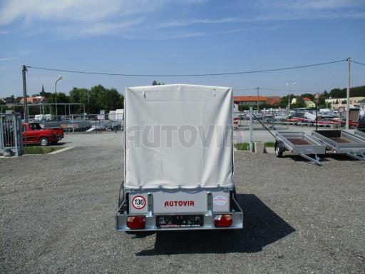 Nebrzděný přívěsný vozík s plachtou ZV 21 N1 2,06x1,09/1,33** č.5