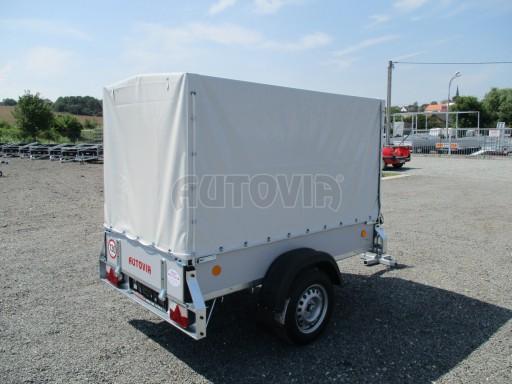 Nebrzděný přívěsný vozík s plachtou ZV 21 N1 2,06x1,09/1,33** č.6