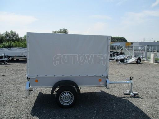 Nebrzděný přívěsný vozík s plachtou ZV 21 N1 2,06x1,09/1,33** č.7