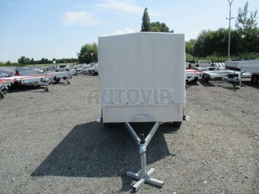 Nebrzděný přívěsný vozík s plachtou ZV 21 N1 2,06x1,09/1,33** č.9
