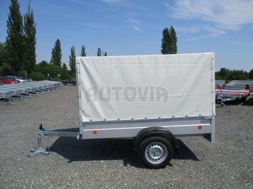 Nebrzděný přívěsný vozík s plachtou ZV 21 N1 2,06x1,09/1,33** č.11