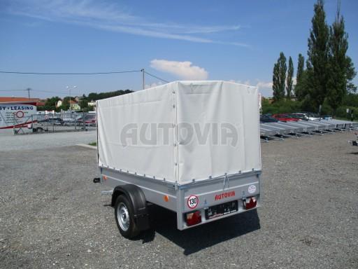 Nebrzděný přívěsný vozík s plachtou ZV 21 N1 2,06x1,09/1,33** č.12
