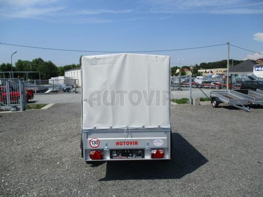 Nebrzděný přívěsný vozík s plachtou ZV 21 N1 2,06x1,09/1,33** č.13