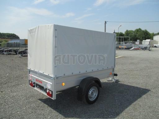 Nebrzděný přívěsný vozík s plachtou ZV 21 N1 2,06x1,09/1,33** č.14
