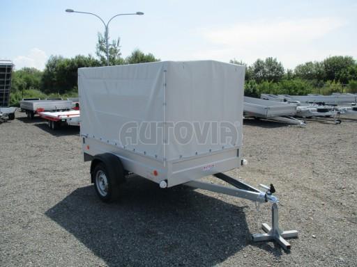 Nebrzděný přívěsný vozík s plachtou ZV 21 N1 2,06x1,09/1,33** č.16