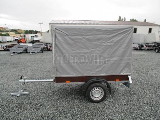 Nebrzděný přívěsný vozík s plachtou VAD 21 N1 2,06x1,12/1,50 č.3
