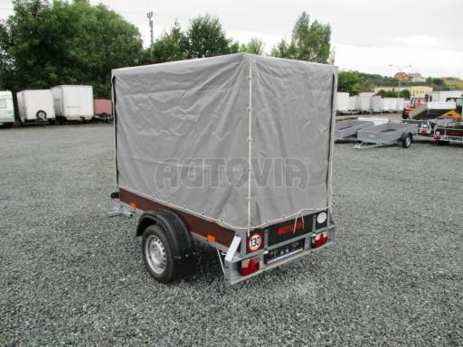 Nebrzděný přívěsný vozík s plachtou VAD 21 N1 2,06x1,12/1,50 č.4