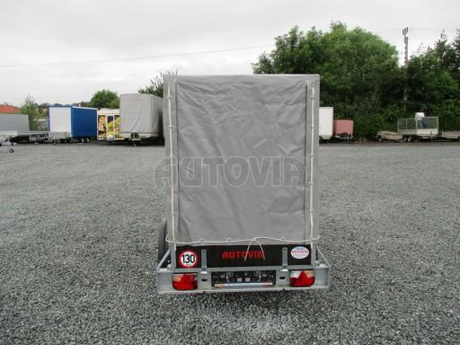 Nebrzděný přívěsný vozík s plachtou VAD 21 N1 2,06x1,12/1,50 č.5