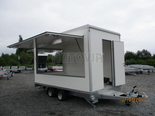 Přívěsný vozík (prodejní stánek) EW 2,5T 4,10x2,20/2,30 č.24