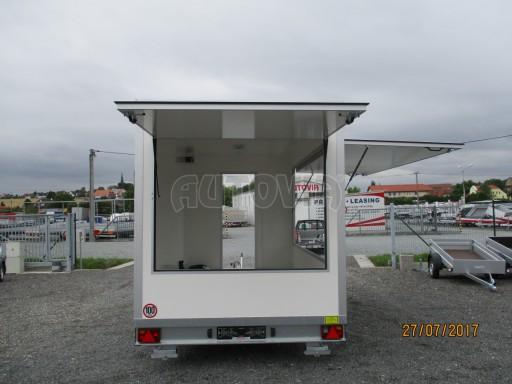 Přívěsný vozík (prodejní stánek) EW 2,5T 4,10x2,20/2,30 č.27