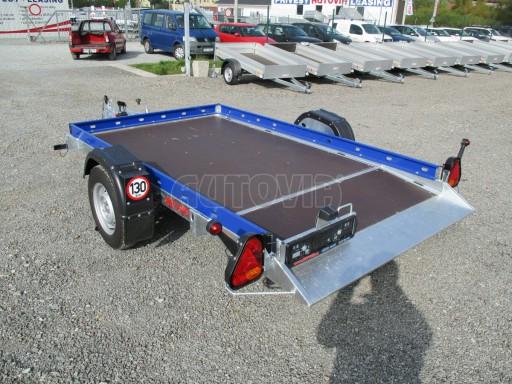 Sklápěcí přívěs HS 750kg 2,72x1,61 modrý č.1