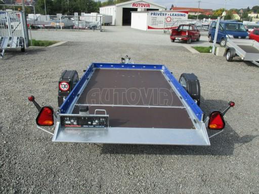 Sklápěcí přívěs HS 750kg 2,72x1,61 modrý č.5