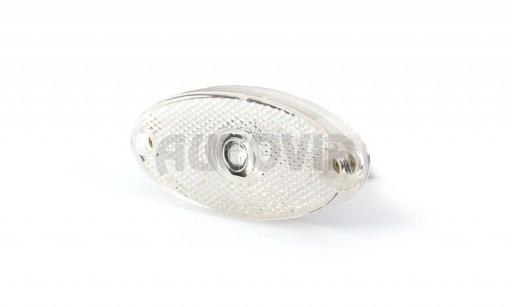 Svítilna bílá přední obrysová LED WAS W64 12-24V elipsa č.1