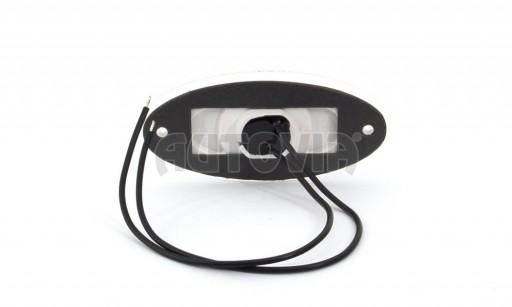 Svítilna bílá přední obrysová LED WAS W64 12-24V elipsa č.2
