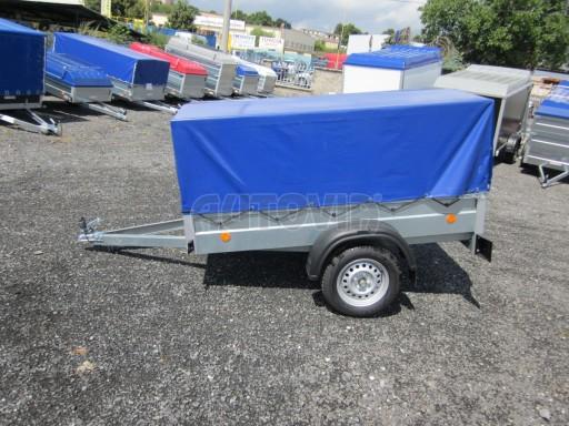 Celoplechový zinkovaný nákladní přívěs HD 3 750kg 2,05x1,09/0,88 č.5