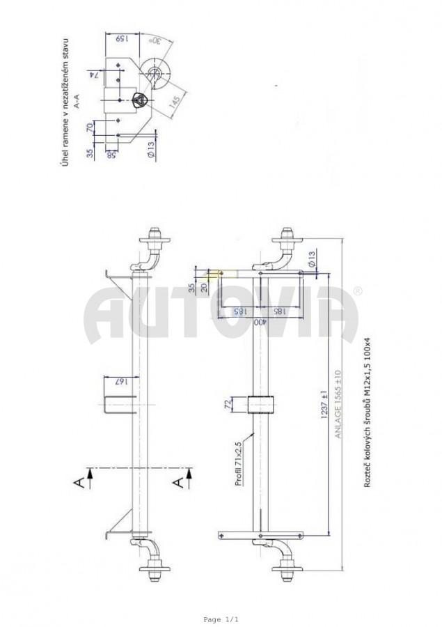 Naprava Knott Vg7 L B 1237 C 1567 100x4 Autovia