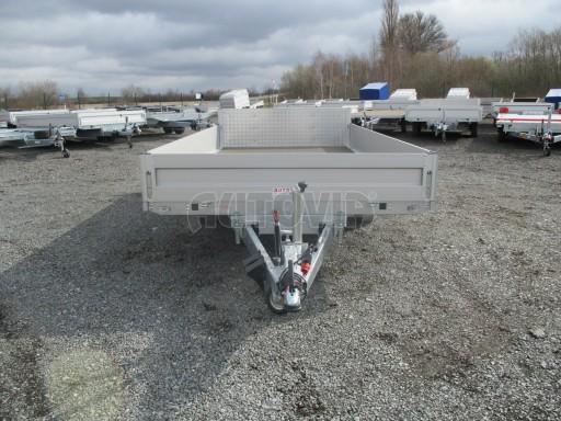 Hydraulicky sklopný přívěs valník s nájezdným čelem AD 2,7T 4,17x2,09/0,35 POČ* č.25