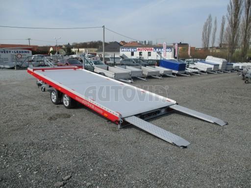 Přepravník automobilů JMB 3,5T 5,50x2,09 el. naviják ALU č.9