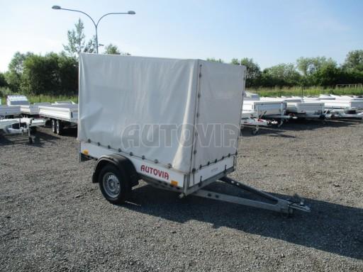 Bazarový přívěsný vozík s plachtou PV 750kg 2,10x1,28/1,50 č.1
