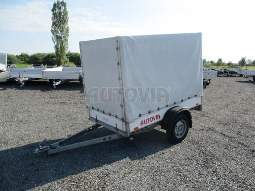 Bazarový přívěsný vozík s plachtou PV 750kg 2,10x1,28/1,50 č.2