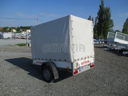 Bazarový přívěsný vozík s plachtou PV 750kg 2,10x1,28/1,50 č.3
