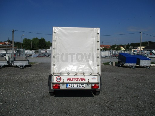 Bazarový přívěsný vozík s plachtou PV 750kg 2,10x1,28/1,50 č.4