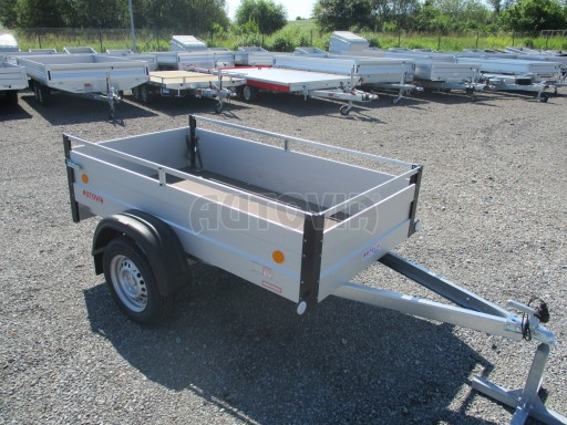 Levný přívěsný vozík s hliníkovými bočnicemi ZV 3 ALU 2,06x1,10/0,35**RE č.1
