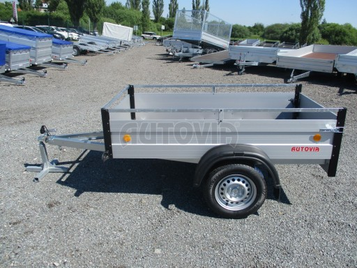 Levný přívěsný vozík s hliníkovými bočnicemi ZV 3 ALU 2,06x1,10/0,35**RE č.4