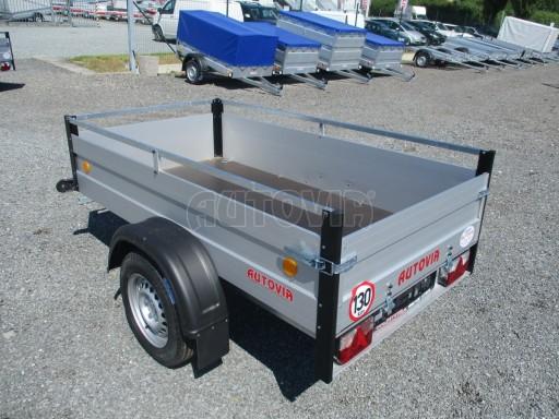 Levný přívěsný vozík s hliníkovými bočnicemi ZV 3 ALU 2,06x1,10/0,35**RE č.5