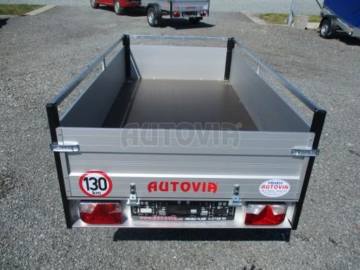 Levný přívěsný vozík s hliníkovými bočnicemi ZV 3 ALU 2,06x1,10/0,35**RE č.6