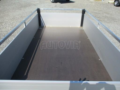 Levný přívěsný vozík s hliníkovými bočnicemi ZV 3 ALU 2,06x1,10/0,35**RE č.7