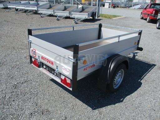 Levný přívěsný vozík s hliníkovými bočnicemi ZV 3 ALU 2,06x1,10/0,35**RE č.8