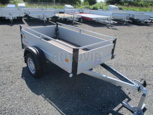 Levný přívěsný vozík s hliníkovými bočnicemi ZV 3 ALU 2,06x1,10/0,35**RE č.10