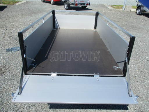 Levný přívěsný vozík s hliníkovými bočnicemi ZV 3 ALU 2,06x1,10/0,35**RE č.11