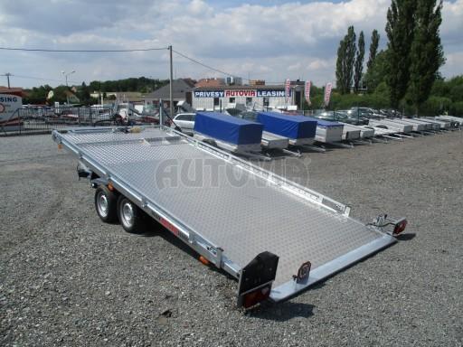 Přepravník SUV a mechanizace JB 3,5T 5,00x2,10 PLATO el.naviják* č.1