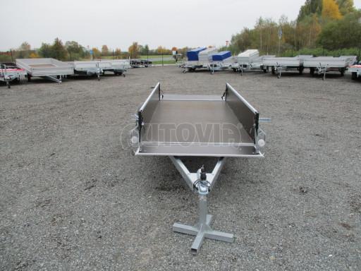 Nebrzděný jednoosý PROFI přívěs ZV 26 N1 2,50x1,24/0,35 POČ zes. náprava č.10