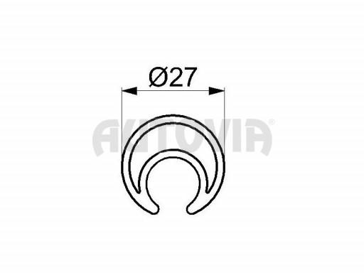 Navíjecí tyč pro napínání plachty pr.27mm č.1