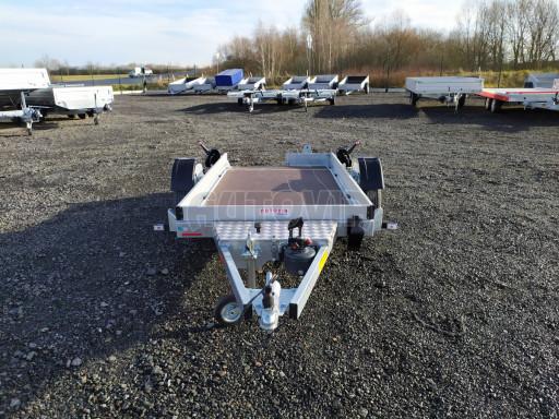 Jednoosý nebrzděný hydraulicky sklopný přívěs HS 750kg N1 2,46x1,26/0,10 ruč* č.5