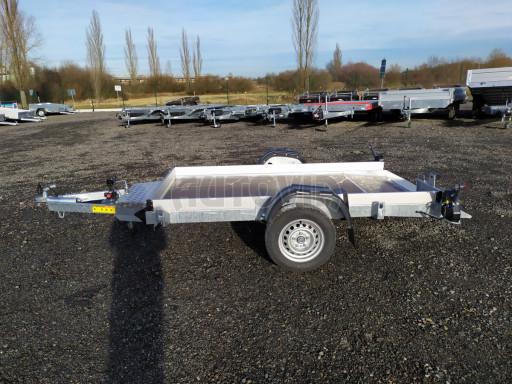 Jednoosý nebrzděný hydraulicky sklopný přívěs HS 750kg N1 2,46x1,26/0,10 ruč* č.7